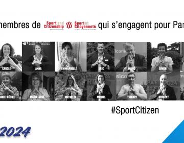 En tant que membre du Comité Scientifique de Sport et Citoyenneté, en soutien des JO 2024 à Paris